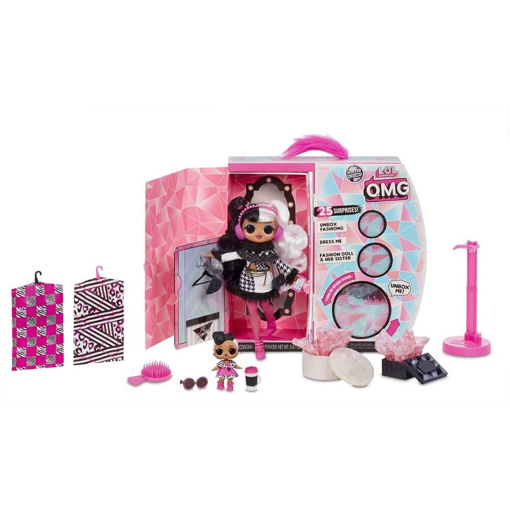 Кукла LOL Surprise OMG Winter Disco Dollie And Dollface с 25 сюрпризами